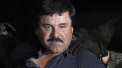 Chapo Guzmán antes de ser enviado de nuevo a la cárcel de El Altiplano.