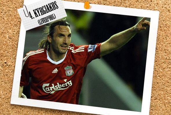 Sotirios Kyrgiakos apoyó al Liverpool que regresó a la senda de la victo...