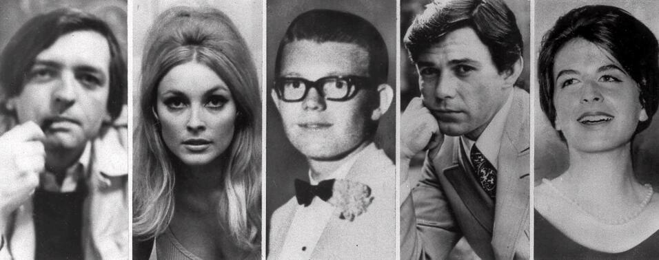 La imagen combinada muestra las cinco víctimas asesinadas la noche del 9...