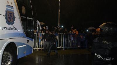 El equipo argentino llegó la noche del lunes al aeropuerto de Ezeiza.