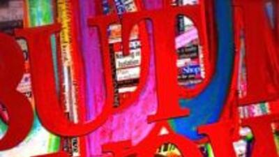 Pintura de la artistas Carla Veliz (foto por Carolyn King).