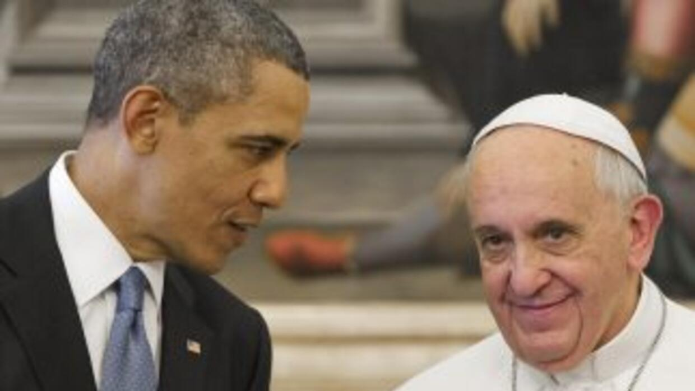 Barack Obama y el papa Francisco se encontraron en el Vaticano en marzo...