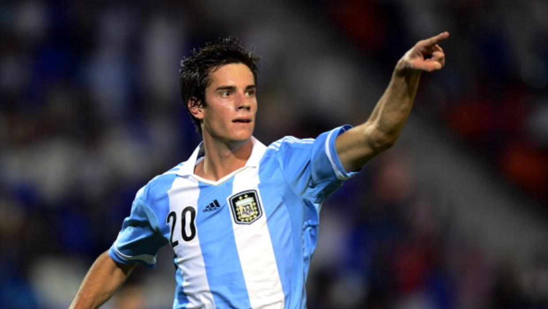 Lucas Melano con la Sub-20 de Argentina