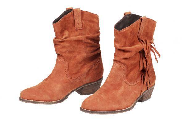 El tacón de estas botas es ancho y puede ir desde 1.18 pulgadas (...