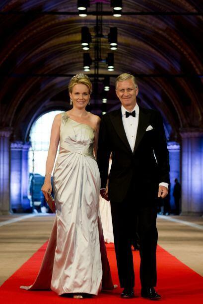 Princesa Mathilde de Bélgica y el príncipe Felipe de Bélgica.