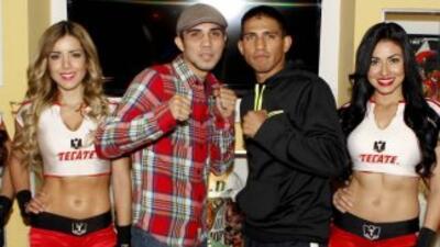 De Marco y Gurrola listos en Tijuana (Foto: twitter)
