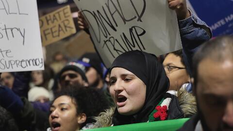 El veto de Trump a siete países de mayoría musulmana desató protestas de...