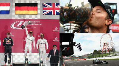 La celebración de Nico Rosberg y el título de Mercedes en Fórmula Uno