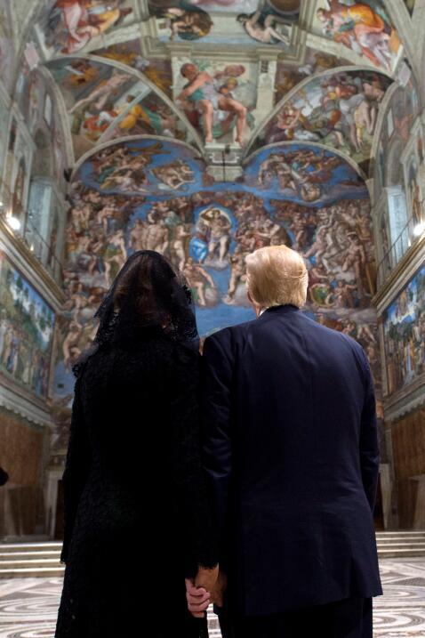 Donald Trump Capilla Sixtina