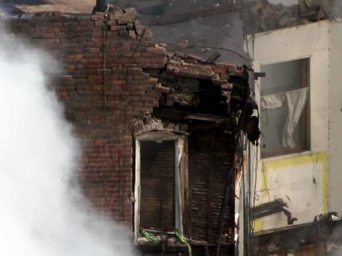 El derrumbe de dos edificios en el barrio de Harlem se debió a un...