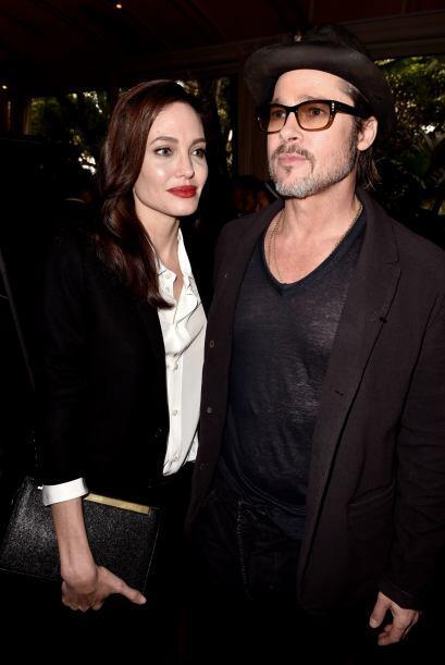 Brad y Angelina dejaron a los nenes en casa