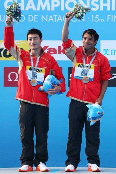 La medalla de oro fue para la pareja china de Kai Qin, con 448.86 puntos.