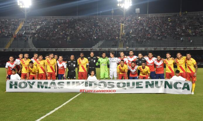 ¡Unidos por México! La Liga MX demostró su apoyo a las víctimas del terr...