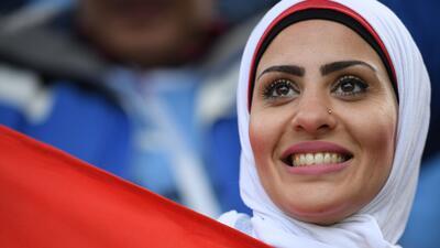 Las mujeres engalanaron el juego entre Uruguay y Egipto en Ekaterinburgo