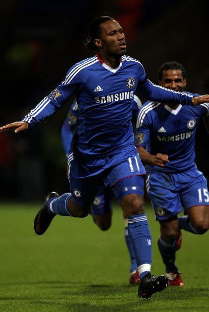 Drogba marcó el primer tanto en la goleada de los 'Blues'.