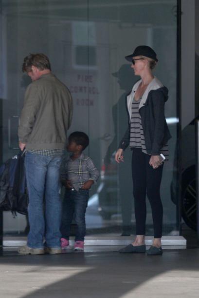 La vimos al lado de su novio Sean Penn y su adorado hijo Jackson.