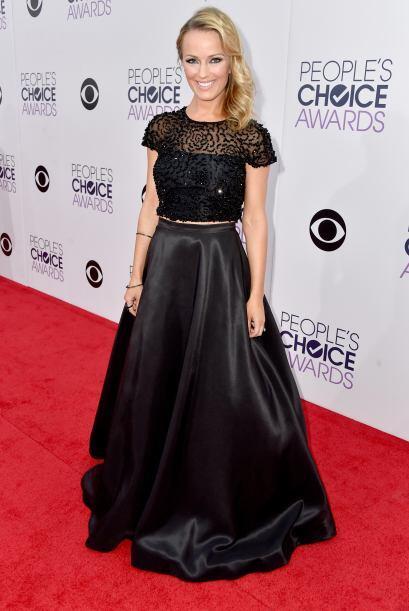Brooke Anderson fue otra que figuró entre las mejores vestidas, pero hub...