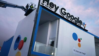 El stand de Google en la feria Consumer Electronics Show, en Las Vegas.