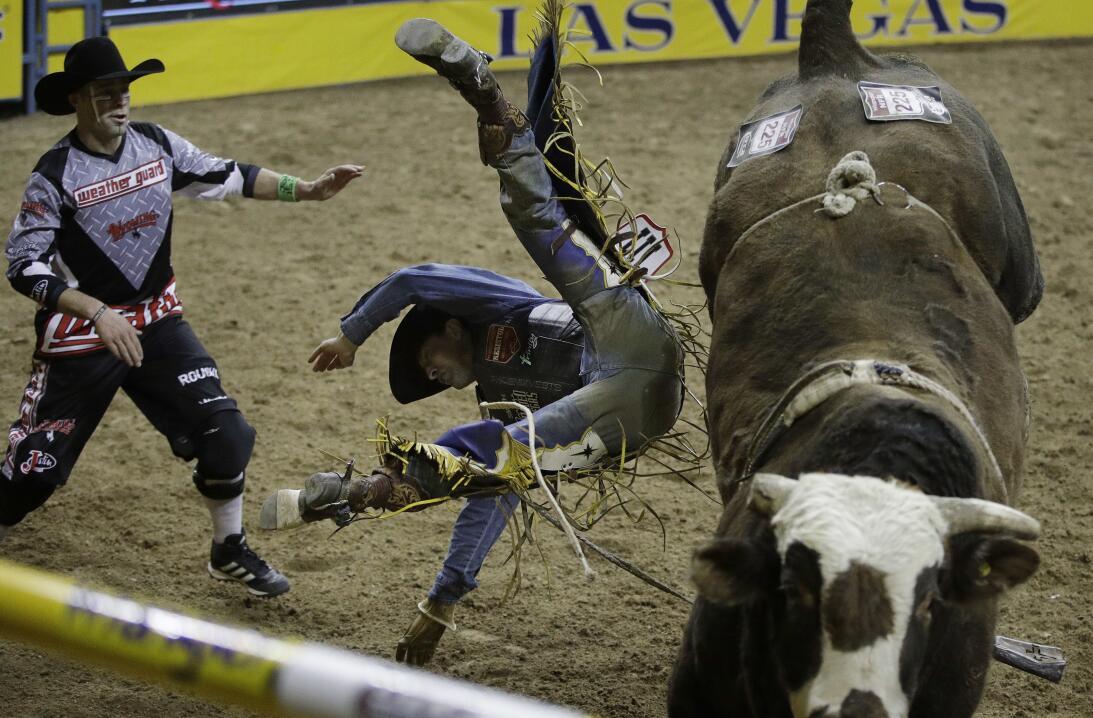 La rudeza e intesidad de los Nacionales de Rodeo en Las Vegas AP_1634319...