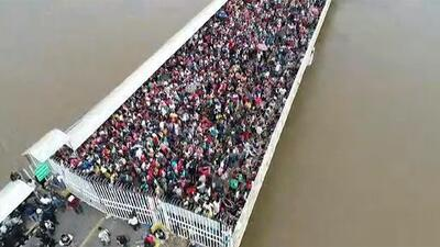 Diario de la nueva caravana: migrantes siguen a la espera de que México les dé paso