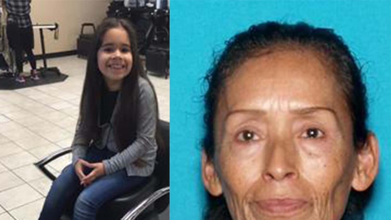 """Jasmine """" Jazzie"""" Félix, de 7 años, y su abuela, Teresa Arias, de 63"""