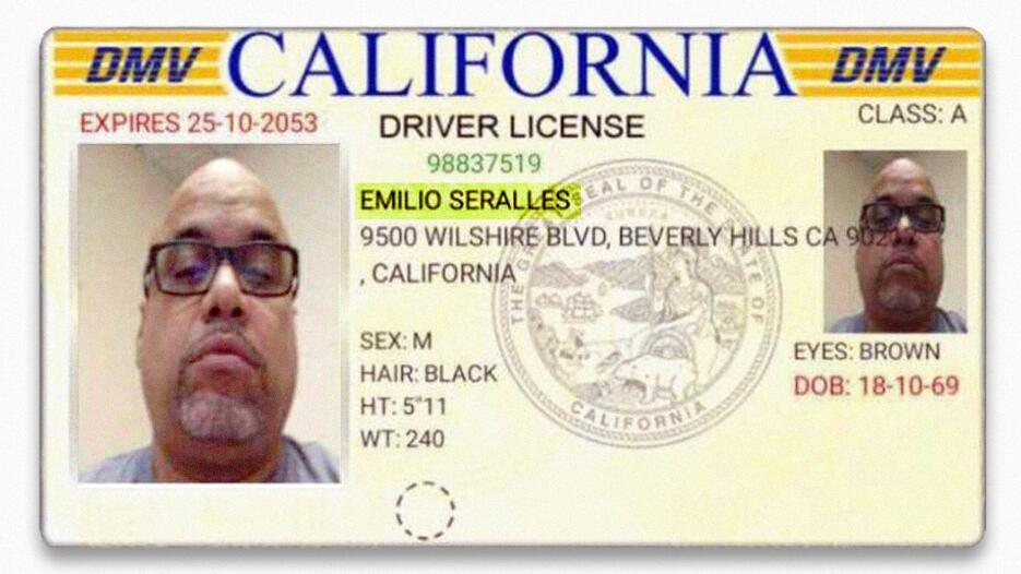 El impostor utilizó una identificación falsa, y su nombre aparecía con u...