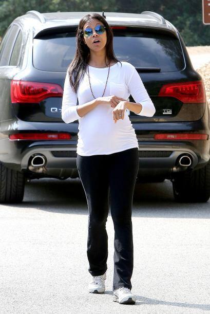 Ahora la actriz latina se fue a hacer ejercicio, a caminar por una colina.