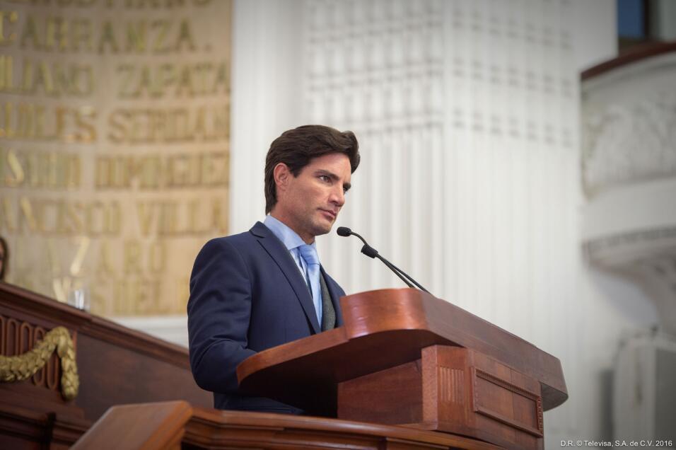 Víctor González en 'La Candidata'.