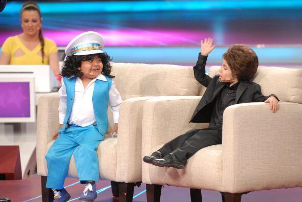 Los pequeños también bromearon un poco con Don Francisco.