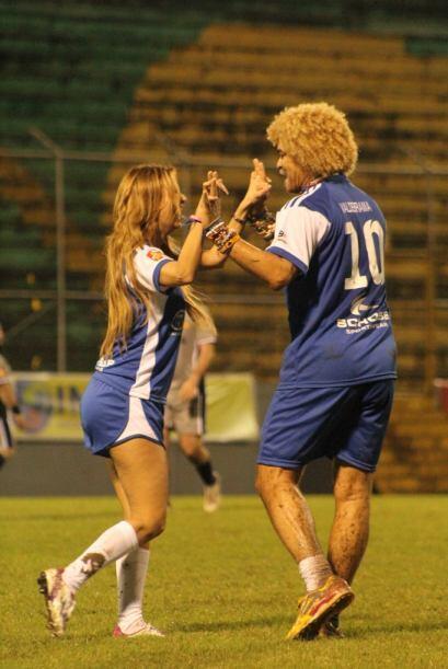 El 'Pibe' y Carolina hicieron un buen equipo. Cortesía: Nicolas Fries.