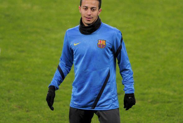 Thiago, que al final se perdió el partido contra el Sporting por...