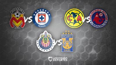 Cruz Azul y América por la hegemonía ante Morelia y Veracruz en la última jornada
