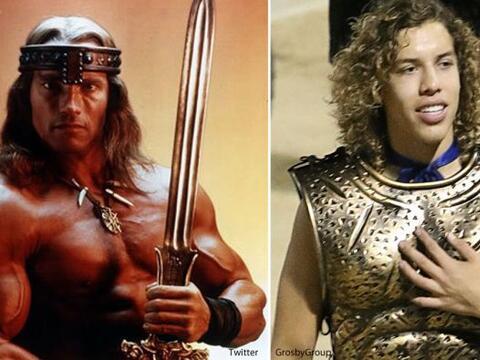 El hijo de Arnold Schwarzenegger apareció enfundado en una disfra...