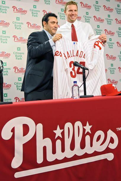 Roy Halladay llegó a Filadelfia, luego de 12 años con los Blue Jays de T...