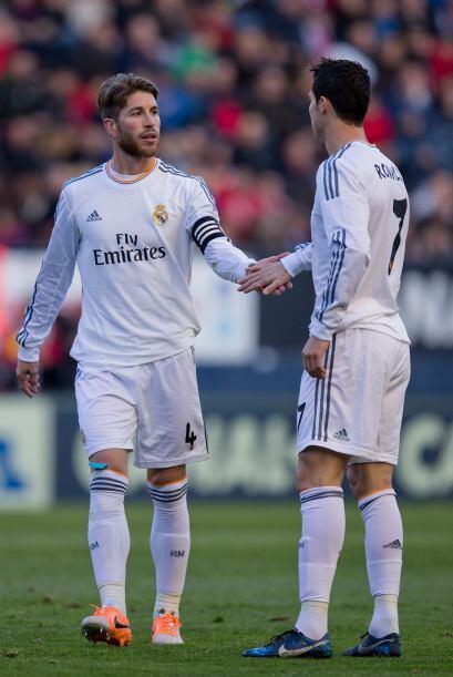 El Madrid jugó con diez toda la segunda parte, después de que al 43, Ser...