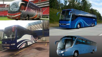 Los autobuses de los clubes de fútbol de la liga mexicana