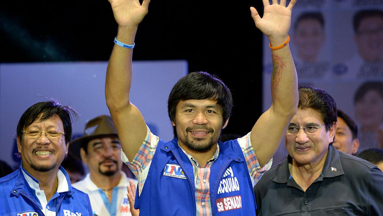 Manny Pacquiao durante la campaña electoral en Filipinas.