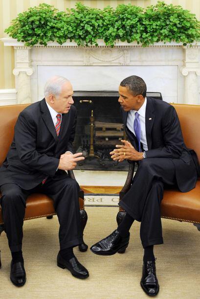 El presidente Barack Obama tuvo una reunión con el primer ministro de Is...