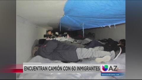 Rescatan a 60 indocumentados escondidos dentro de un camión