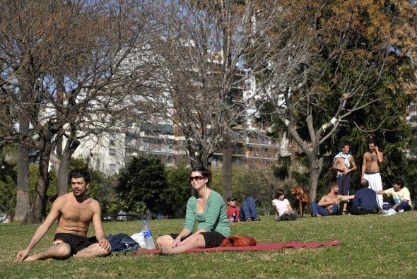Buenos Aires registra altas temperaturas desde ayer. Por lo que la pobla...