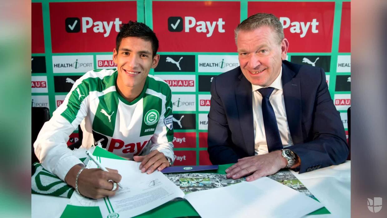 Uriel Antuna fue presentado este lunes como nuevo jugador del Groningen FC