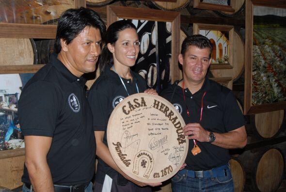 Aquí la tripleta mexicana muestra su mensaje para Casa Herradura.