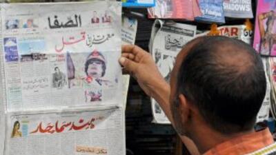 La prensa árabe calificó la muerte de Gadafi como una lección para líder...