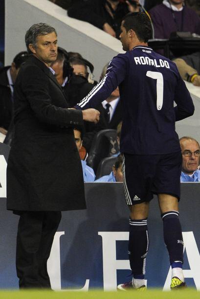 Cuando el partido estaba definido, Mourinho sacó a 'CR7' y metió algunas...
