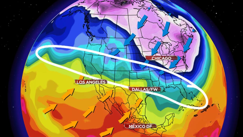 Rangos de temperatura en norteamérica