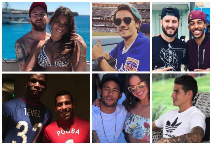 Gignac en Los Ángeles y Messi en la playa, los cracks del fútbol no la p...