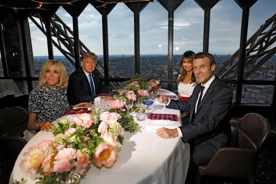 Trump en Paris Eiffel