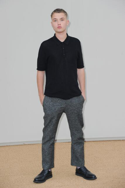 Rafferty Law attends the Burberry show during The London Collections Men...