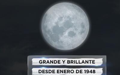 Grande y brillante, así se verá la superluna este lunes 14 de noviembre