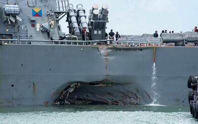 La foto fue tomada el lunes 21 de agosto, el día en que el destru...
